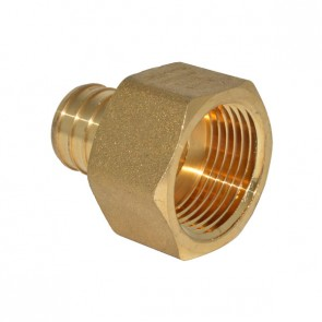 """1"""" PEX Barb x 1"""" FPT Adapter - Brass"""