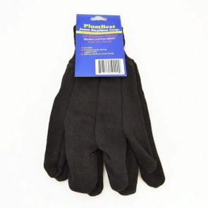 PlumBest Brown Cotton Jersey All-Purpose Gloves (G50200)
