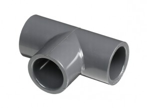 "4"" Schedule 80 PVC Tee - Socket (801-040)"