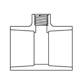 Sch 80 PVC Reducing Tee