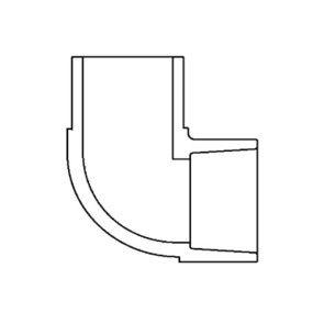 "1-1/2"" Schedule 80 PVC Spg x S Elbow 809-015"