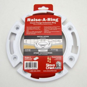 Raise-A-Ring for Adding Height to Toilet Flange
