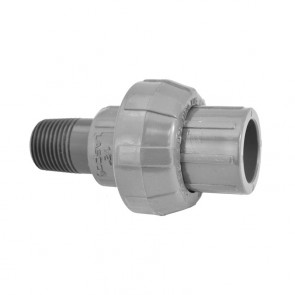 "1/2"" Sch 80 PVC Union (Slip x MIPT) 896-005"