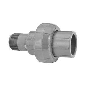"3/4"" Sch 80 PVC Union (Slip x MIPT) 896-007"