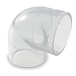 "1/4"" Clear PVC 90 Elbow 406-002L"