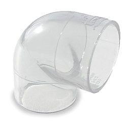 "1"" Clear PVC 90 Elbow 406-010L"