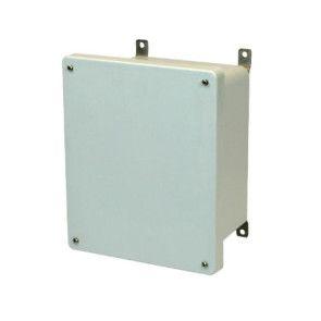 AM1086 10x8x6 NEMA 4X Fiberglass Enclosure w/ Lift-Off Screw Cover