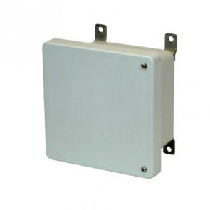 AM664H 6x6x4 NEMA 4X Fiberglass Enclosure w/ Hinged Screw Cover