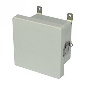 AM664L 6x6x4 NEMA 4X Fiberglass Enclosure w/ Quick-Release Latch Hinged Cover
