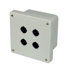 AM664P4 6x6x4 NEMA 4X Fiberglass Enclosure w/ Lift-Off Screw Cover 4 PB Cutouts 30.5MM