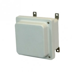 AM664RH 6x6x4 NEMA 4X Fiberglass Enclosure w/ Raised Hinged Screw Cover