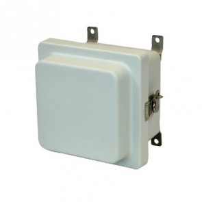 AM664RT 6x6x4 NEMA 4X Fiberglass Enclosure w/ Raised Twist Latch Hinged Cover