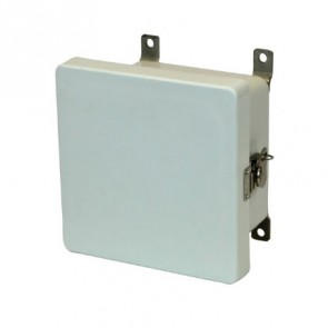 AM664T 6x6x4 NEMA 4X Fiberglass Enclosure w/ Twist Latch Hinged Cover