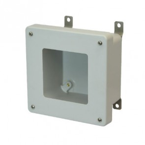AM664W 6x6x4 NEMA 4X Fiberglass Enclosure w/ Lift-Off Screw Cover Window