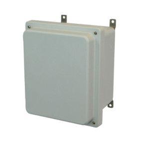 AM864R 8x6x4 NEMA 4X Fiberglass Enclosure w/ Raised Lift-Off Screw Cover