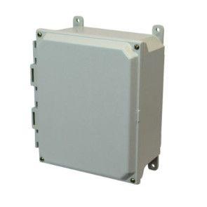 AMU864 8x6x4 NEMA 4X Fiberglass Enclosure w/ Lift-Off Screw Cover Foot Mount
