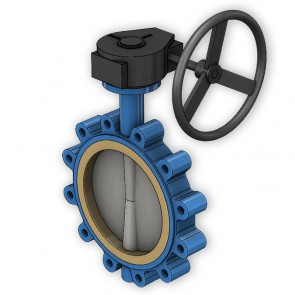 Ductile Iron Gear Operated Butterfly Valve