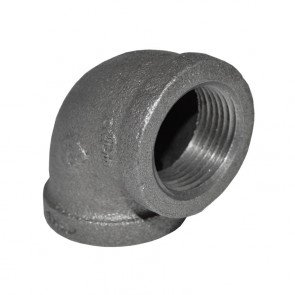 "1"" Black Malleable Iron 90 Elbow"