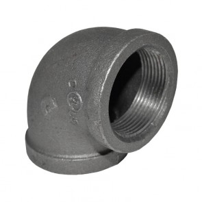 "1-1/2"" Black Malleable Iron 90 Elbow"