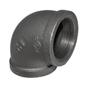 "2"" Black Malleable Iron 90 Elbow"
