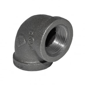 "3/4"" Black Malleable Iron 90 Elbow"