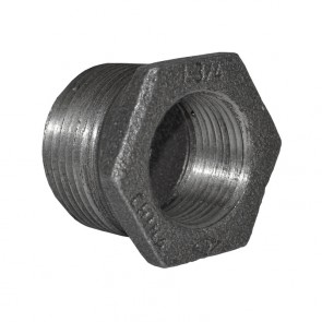 "1"" x 3/4"" Black Malleable Iron Hex Bushing"