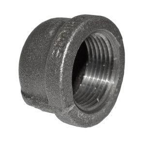 "1"" Black Malleable Iron Cap"