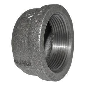 "1-1/2"" Black Malleable Iron Cap"