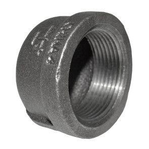 "1-1/4"" Black Malleable Iron Cap"