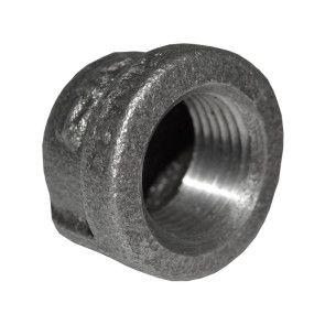 "1/2"" Black Malleable Iron Cap"