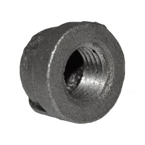"1/4"" Black Malleable Iron Cap"