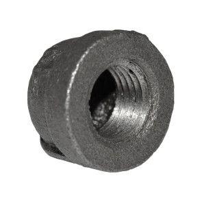 "1/4"" Black Malleable Iron Cap"