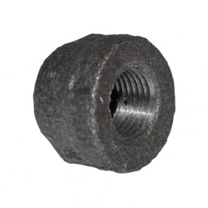 "1/8"" Black Malleable Iron Cap"