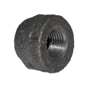 "1/8"" Black Malleable Iron Cap"