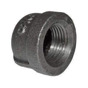 "3/8"" Black Malleable Iron Cap"