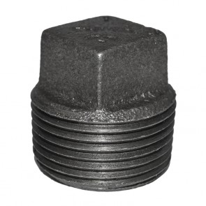 "1"" Black Malleable Iron Plug"