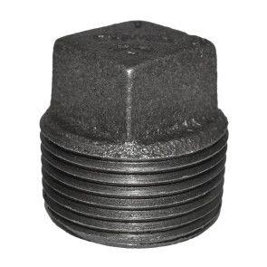 "1"" Black Malleable Iron Plug"