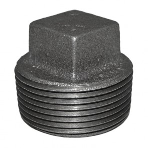 "1-1/4"" Black Malleable Iron Plug"