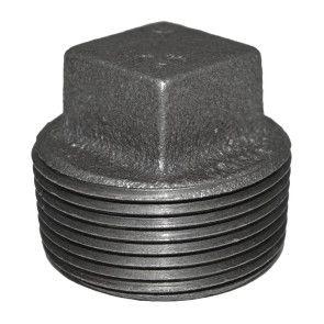 "1-1/4"" Black Malleable Iron Plug"