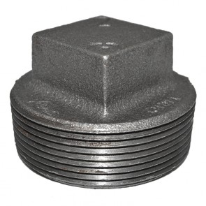 "2"" Black Malleable Iron Plug"