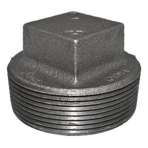 "2"" Black Malleable Iron Plug"