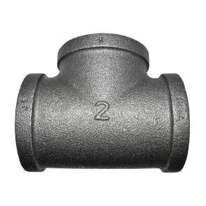 "2"" Black Malleable Iron Tee Fitting"
