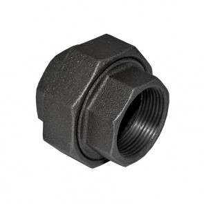 "1-1/4"" Black Iron Union - FPT x FPT"