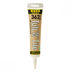 BOSS Acrylic Clear Tub-n-Tile Caulk