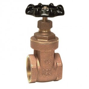 "1/2"" IPS Brass Gate Valve - 01718501G"