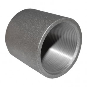"1-1/2"" Black Malleable Iron Merchant Coupling"