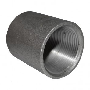 "1-1/4"" Black Malleable Iron Merchant Coupling"