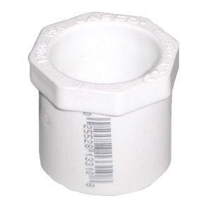 "1-1/4"" x 1/2"" Schedule 40 PVC Reducer Bushing - Spigot x Socket (437-166)"