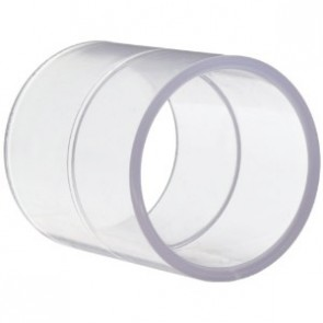 2 1/2 inch Clear PVC Coupling 429-025L