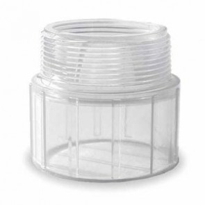 "2"" Clear PVC Male Adapter 436-020L"